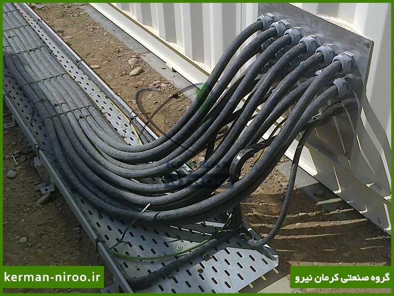 سینی کابل برق اجرا شده در کارخانه