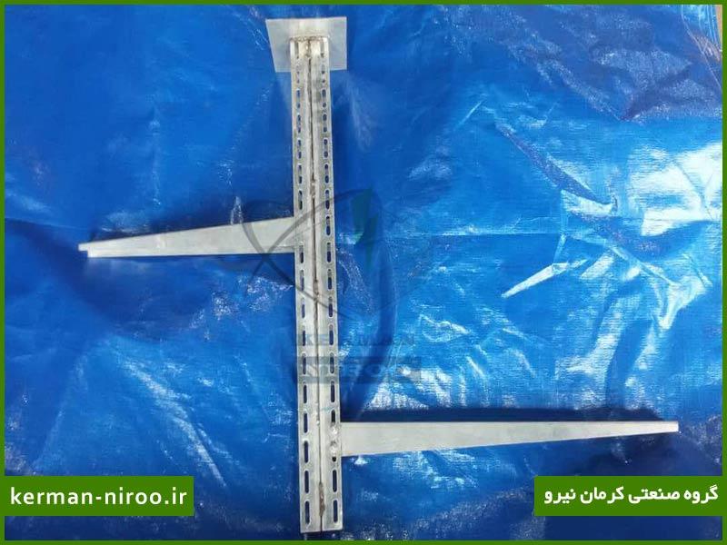 پایه های سقفی قابل تنظیم سه قطعه ای با پلیت